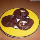 Schoko-Kekse mit Cranberrys