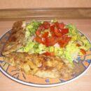 Fisch und Salat